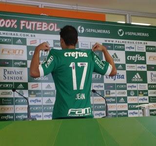 Jean vai usar a camisa 17 no Palmeiras (Foto: Tossiro Neto)