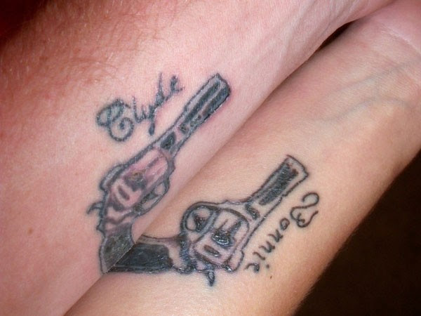 Bonnie And Clyde Pistols Matchingtattoo Tattoo Pictures