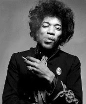 Gered Mankowitz's 1967 portrait of Jimi Hendrix
