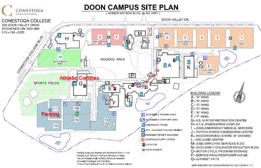 Conestoga College Doon Campus Map Doon Campus Map | Global Map