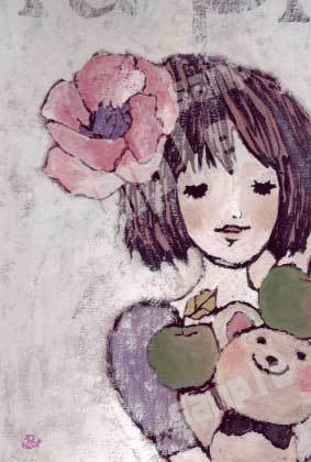 ポストカード かわいい女の子 イラスト ハンドメイドマーケット Minne