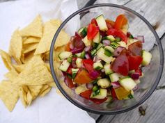 Zucchini and Heirloom Tomato Salsa recipe