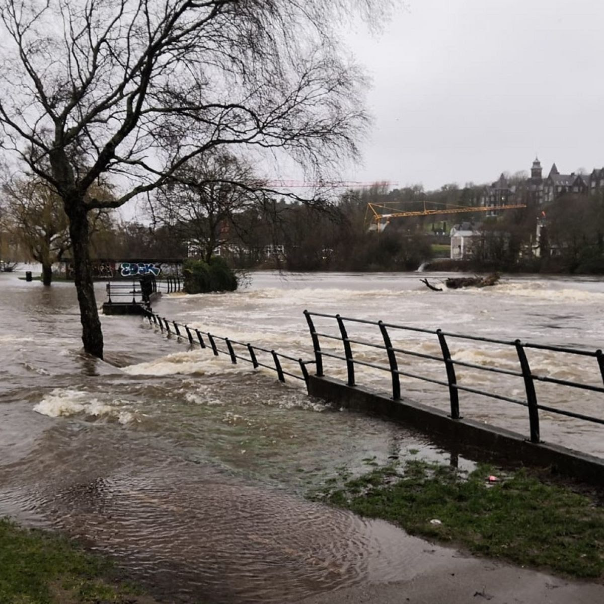 Wet, wet, wet: Heavy rain brings flooding in south of the country