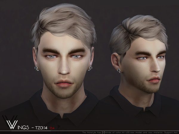 WINGS-TZ0114 male hair by wingssims at TSR » Sims 4 Updates