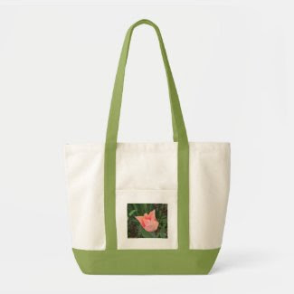 Tulip Tote with Green Handles bag