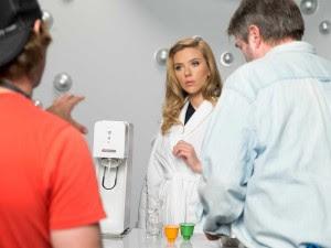 Scarlett Johansson filming her first SodaStream commercial. Photo: SodaStream.