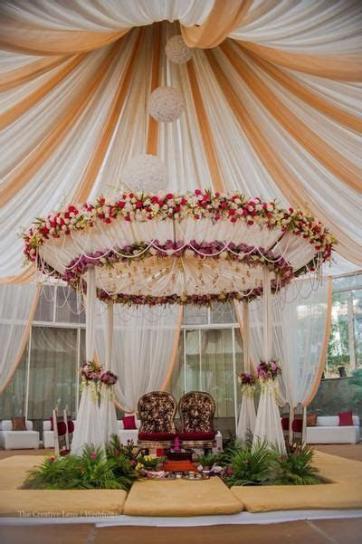 Morning wedding..Vidhi mandap   Drapes and Aisles decor