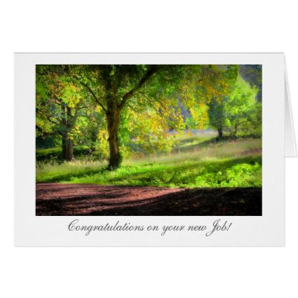 Start of Autumn / Fall - Congrats on New Job Greeting Card