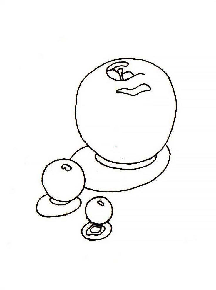 Desenho da maçã esbolso