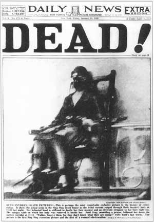 1928: DEAD! (NEW YORK DAILY NEWS) | The power of the front cover