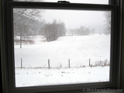 Snowfall through the upstairs windows 11 - FarmgirlFare.com