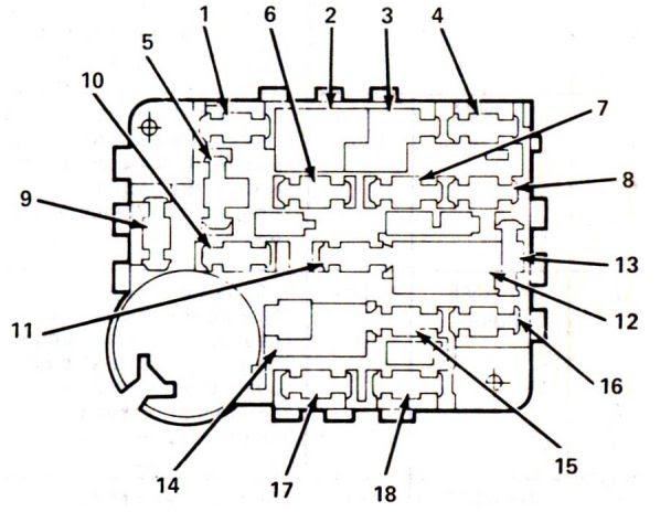 Lincoln Mark Vii 1984 1987 Fuse Box Diagram Auto Genius