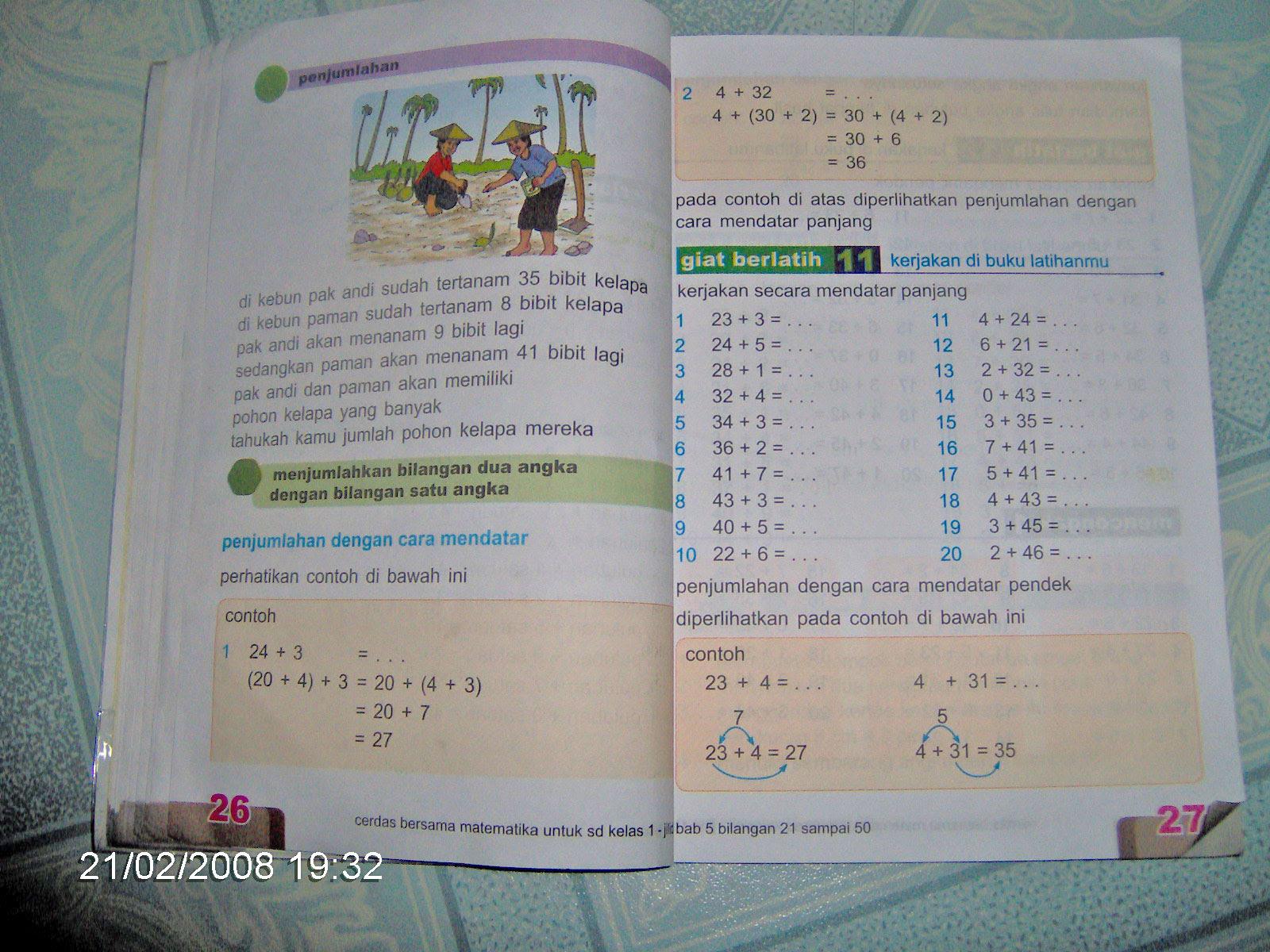 Matematika Anak SD Kelas 1 Saat Ini