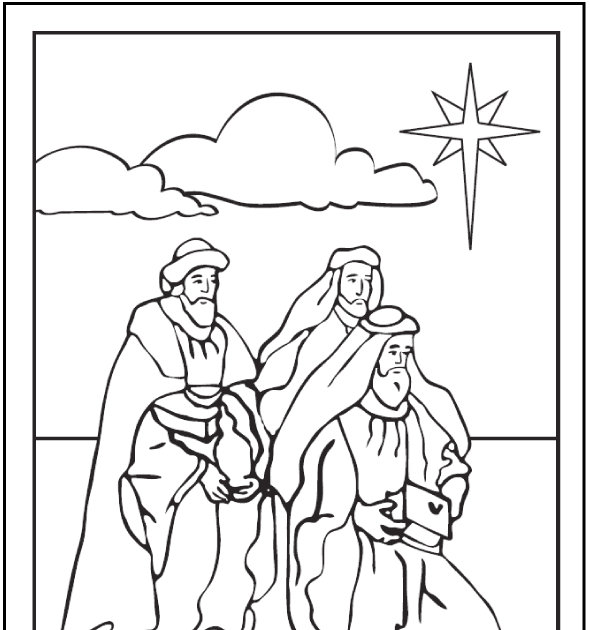 26 colouring pages 3 kings  colouring pages