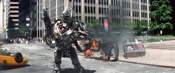 The Rhino (Paul Giamatti) uses his armor and heavy artillery to wreak havoc on Spider-Man and New York City in THE AMAZING SPIDER-MAN 2.