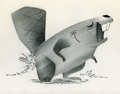 Ray Patin Beaver animation drawing