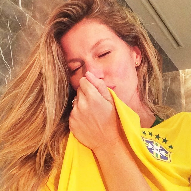 gisele brazil World Cup 2014: Models Showing Love for Their Teams
