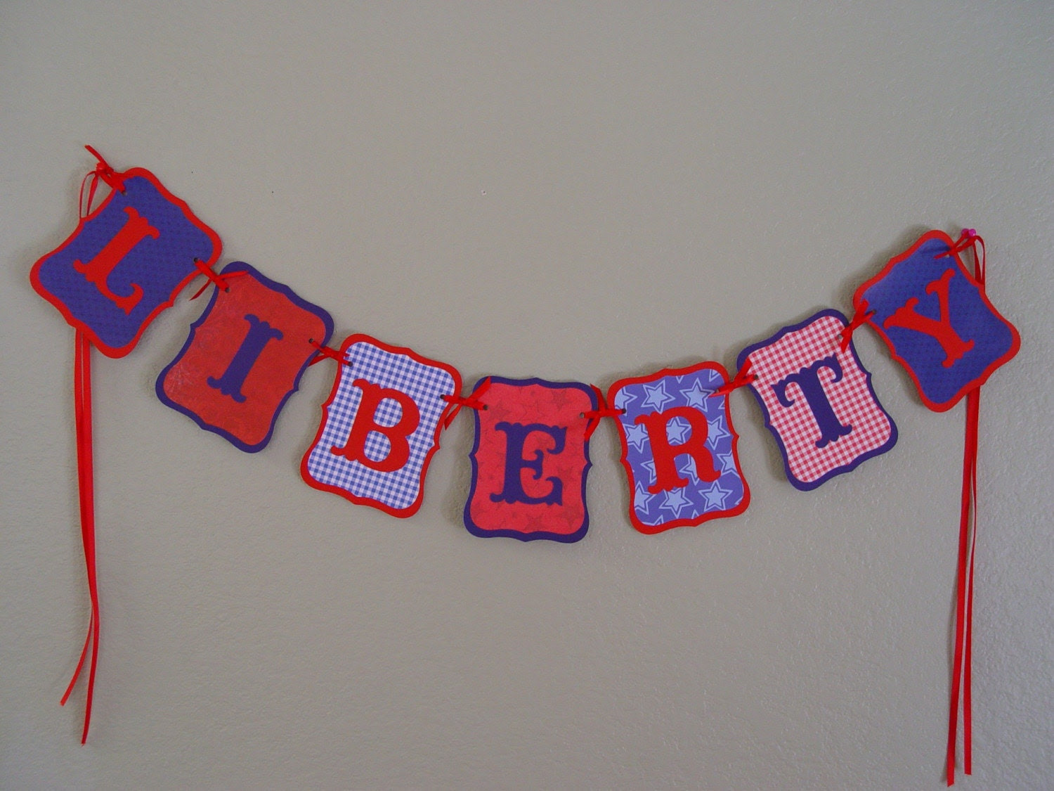LIBERTY Banner/Garland, patriotic, July 4<span class=
