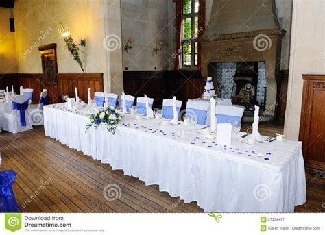Head Table At Wedding Reception Stock Image   Image of