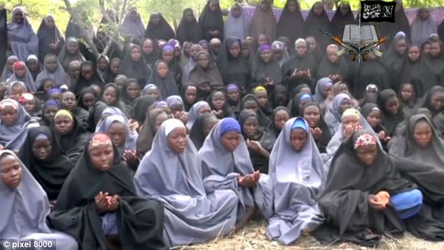 The 250 girls are being held by Islamic group Boko Haram after they were abducted from Chibok, in north eastern Nigeria