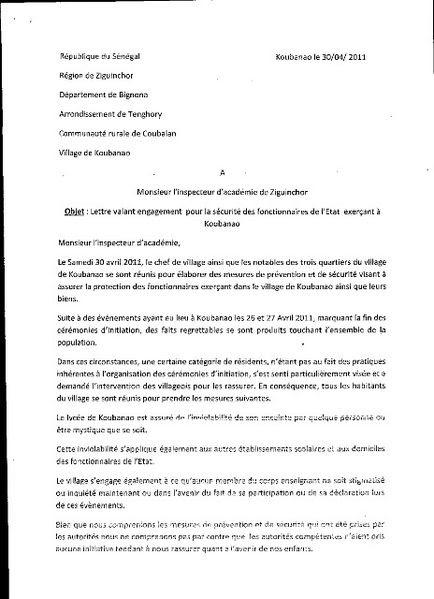 Sample Cover Letter: Exemple De Lettre D'engagement