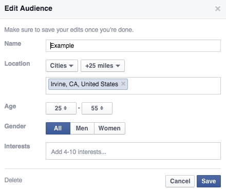 facebook edit audience