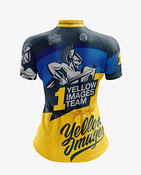Download Womens Classic Cycling Jersey mockup Back View (PSD ...