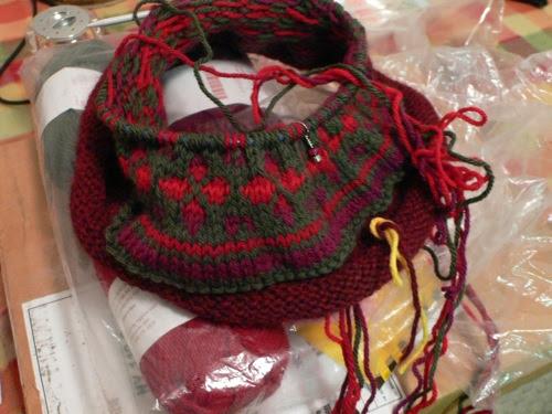 Fair Isle Hat In Progress