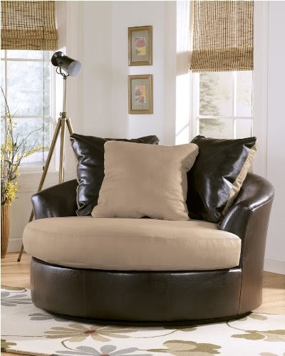 Lakenmocha Oversized Swivel Chair Modern Living Room Sets