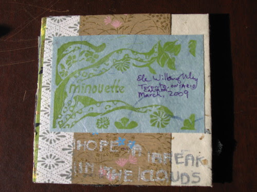 reverse of chunky page for book of hope 2009