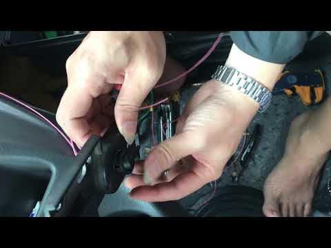 Clip hướng dẫn tự lắp bộ xả đá ép tự động thực tế trên xe.