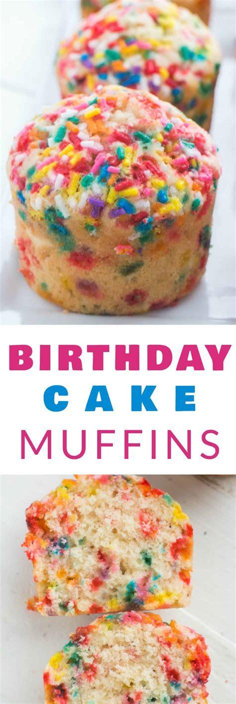 Sprinkle Birthday Cake Muffins   Brooklyn Farm Girl