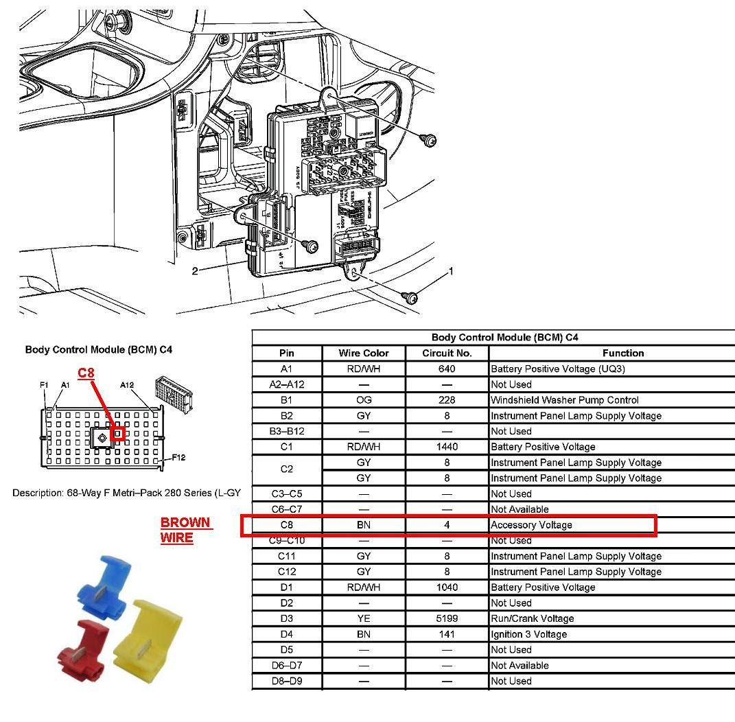 2006 chevy silverado radio wiring diagram