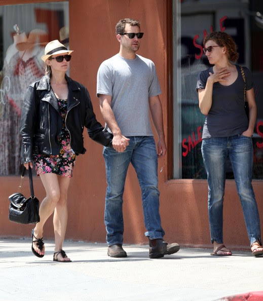 Actor Joshua Jackson and Diane Kruger take a stroll on Abbot-Kinney in