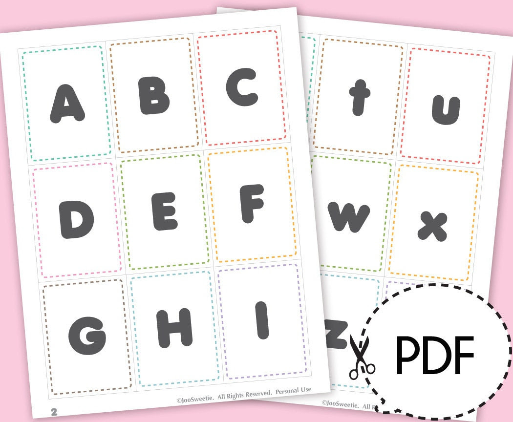 Gratifying image for printable alphabet flashcards without pictures