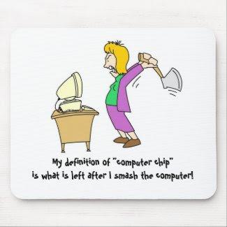 Smashing Computer-woman mousepad