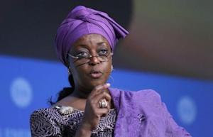 Nigeria's Petroleum Minister and OPEC's alternate president Alison-Madueke speaks at the annual IHS CERAWeek conference in Houston