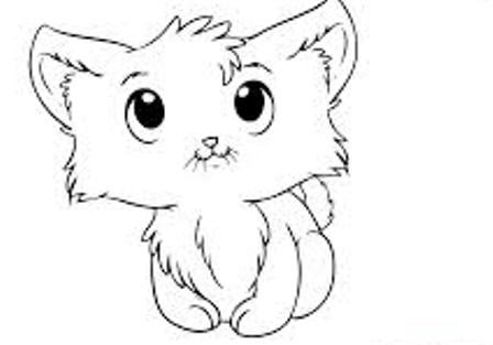Menggambar Kucing Lucu Mewarnai Kucing Lucu Auto Electrical Wiring