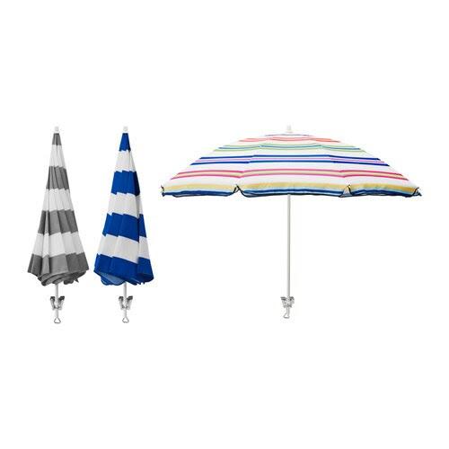 RAMSÖ Parasoll IKEA Textilen är vattenavvisande och den har ett mycket bra UV-skydd (95,9 - 97,4% av UV-strålningen blockeras).