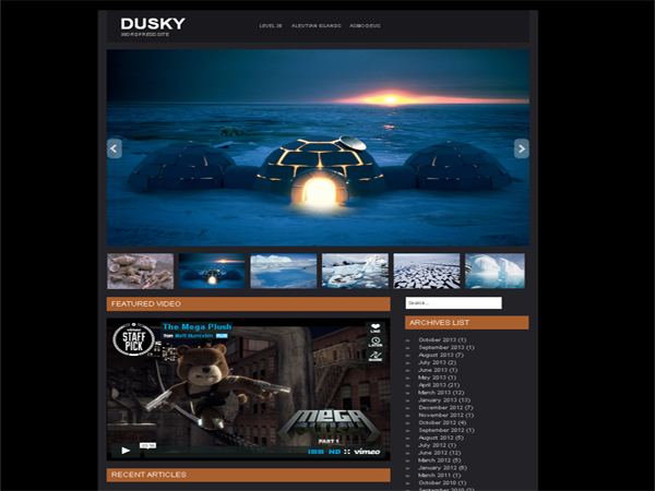 Dusky Free WordPress Theme