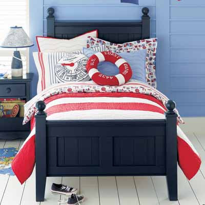 Nautical Bedroom Decor, Bright Colors, Fun Decorating Ideas for Kids