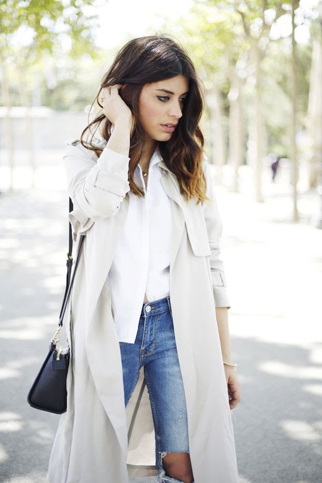 Le Fashion Blog Light Grey Beige Trench Coat White Shirt Wavy Ombre Hair Ripped Jeans Michael Kors Selma Bag Aida Domenech Dulceida photo Le-Fashion-Blog-Light-Grey-Beige-Trench-Coat-White-Shirt-Wavy-Ombre-Hair-Ripped-Jeans-Michael-Kors-Selma-Bag-Aida-Domenech-Dulceida.jpg
