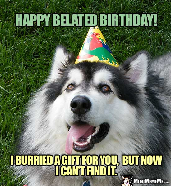 Belated Happy Birthday Jokes Funny Late B Day Greetings Pg 1 Of 3