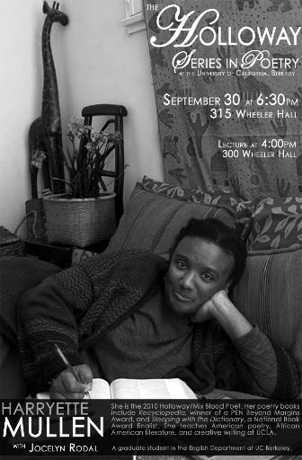 Harryette Mullen September 30 at 6:30PM