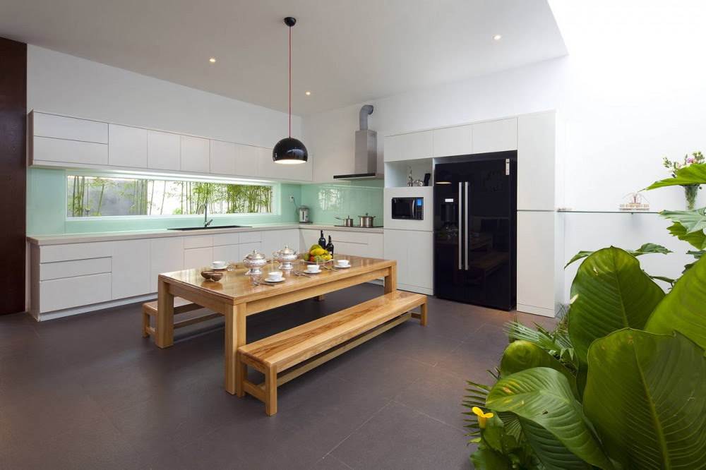 Contemporary kitchen diner layout