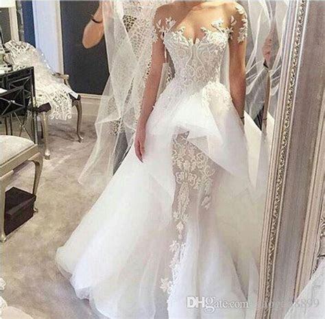 Steven Khalil 2017 Over Skirts Sheath Long Sleeve Wedding