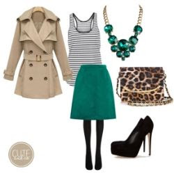 Emerald Skirt Outfit