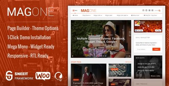 MagOne v6.4.6.7 - Newspaper & Magazine WordPress Theme