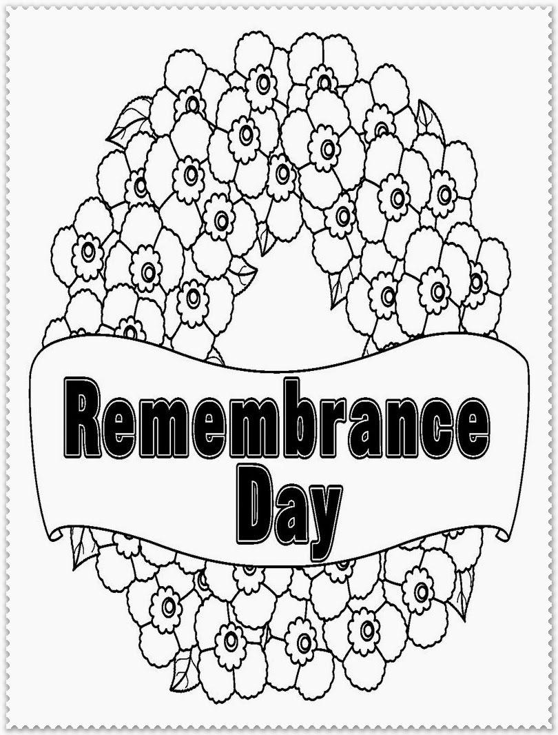 Remembrance Day Coloring Pages   Realistic Coloring Pages ...