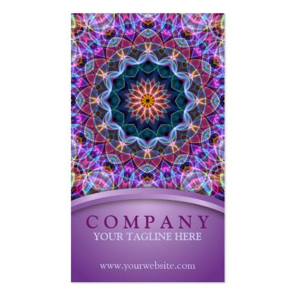 Purple Lotus Mandala Business Card Templates